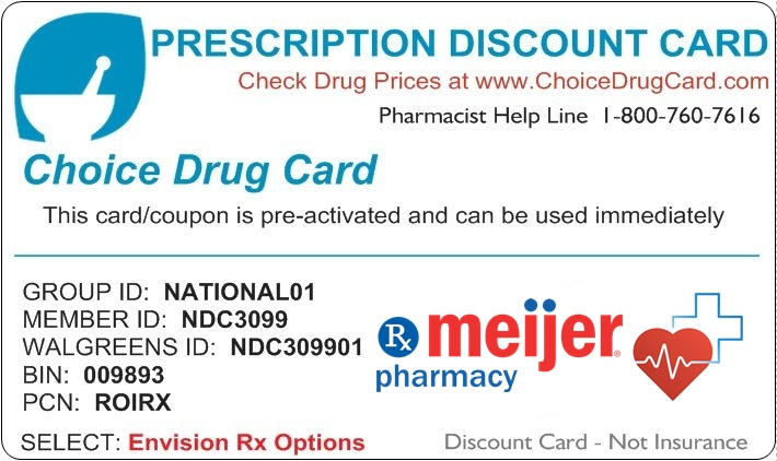 Meijer Pharmacy Discount Card